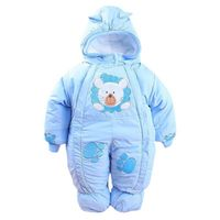 Autumn & Winter Newborn Infant Baby Clothes Fleece Animal Style Clothing Romper Baby Clothes Cotton-padded Overalls