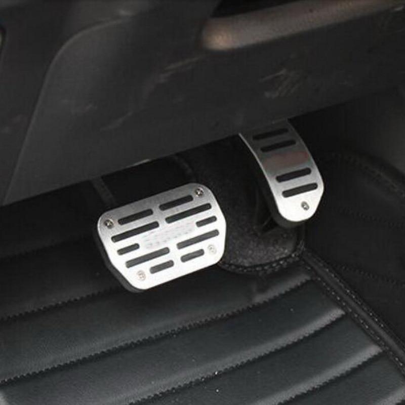 Tonlinker внутренняя газ/Тормозная крышка наклейки для TOYOTA венчик Альтис-18 автомобильный Стайлинг 2 шт. алюминиевая крышка наклейки