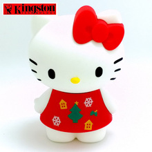 Kingston USB Flash Drive 16gb Pen Drive cle usb Stick Cartoon Hello Kitty Limited Edition USB flash Memory Lovely Gift pendrive