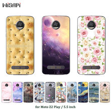 "for Motorola Moto Z2 Play Case Fashion Printed Slim Soft TPU Phone Case for Motorola Z2 Play XT1710 5.5"" Back Cover(China)"