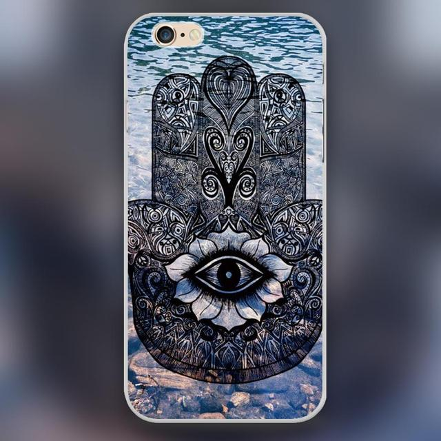 Hamsa Hand Eye Symbol For Blessing Design Case Cover Cell Phone