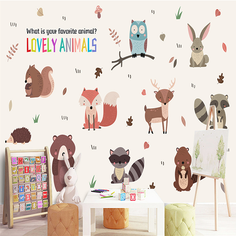 Wall Mural in Wallpapers Minimalist Decor Bule Sky Sea Mural Non-woven Fabric Wallpaper Cartoon Bedroom Children Room Wall Mural english wallpaper roll for baby room lovely hand painted wallpapers children wall paper mural non woven wallpapers for boy room