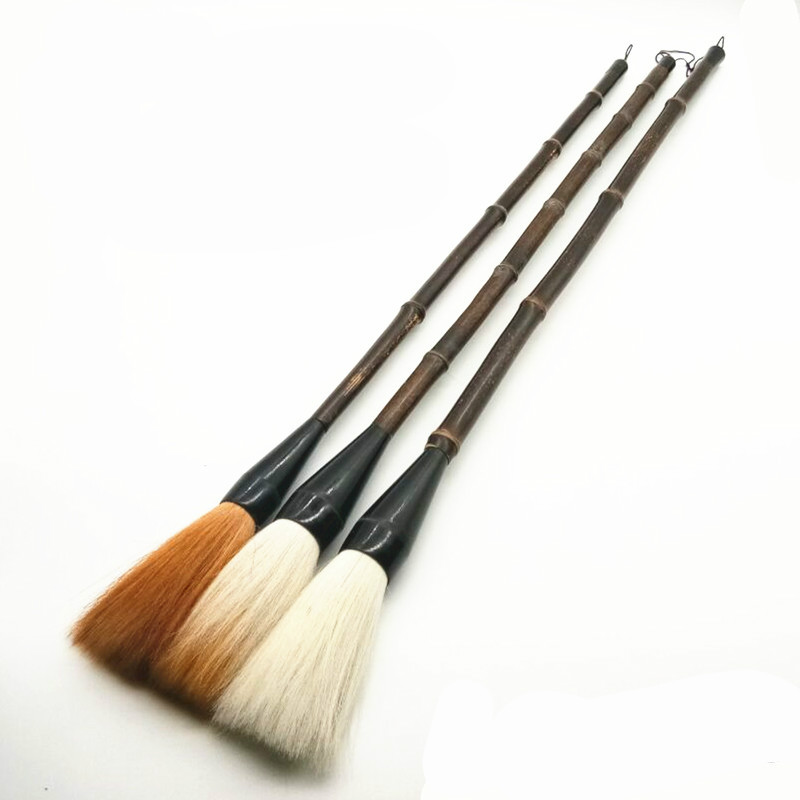 Advanced Soft Woolen Hair Chinese Calligraphy Brushes Pen Bigger and Longer Hopper-shaped Brush for Performing Dance ImplementsAdvanced Soft Woolen Hair Chinese Calligraphy Brushes Pen Bigger and Longer Hopper-shaped Brush for Performing Dance Implements