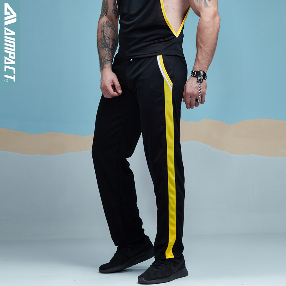 Aimpact Mens Pants New Fashion Men's Casual Pants Leisure Male Trousers Summer Man Homewear Sexy Mesh Long Pants For Men SXC059