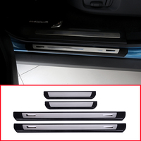 4x Stainless Steel For Range Rover Evoque 2011 2017 Car Welcome Pedal Car External Door Sill Scuff Plate Pad Threshold