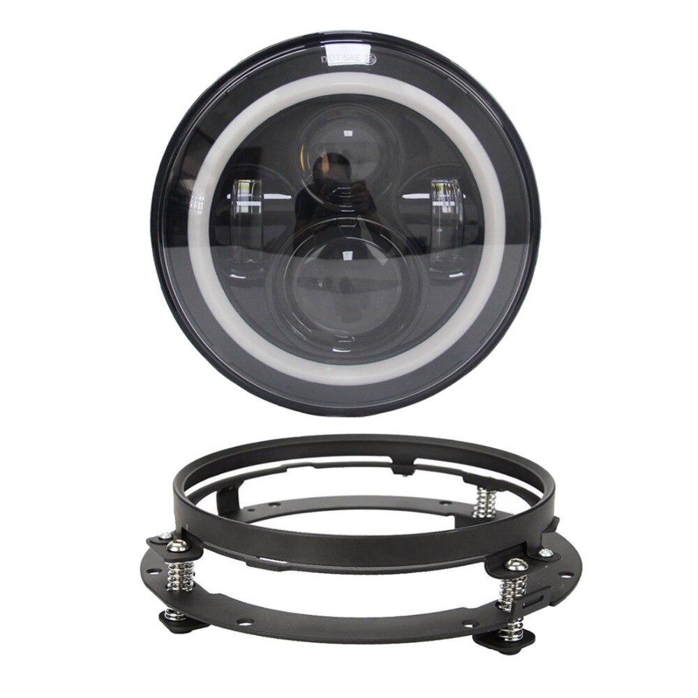 7-дюймовый фары Daymaker гало DRLTurn сигнальные огни с 7-дюймовый кронштейн фары кольцо поддержка для Harley