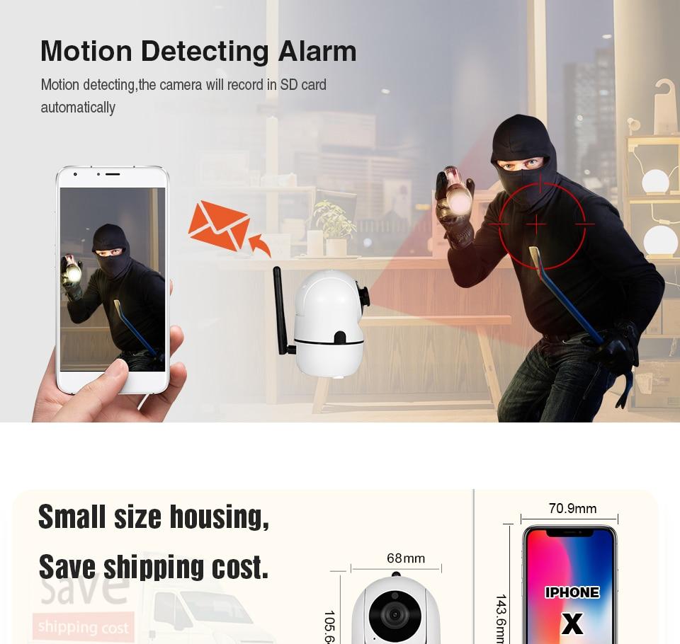 HTB15PAfaUrrK1RkSne1q6ArVVXaq INQMEGA 1080P Cloud Wireless IP Camera Intelligent Auto Tracking Of Human Home Security Surveillance CCTV Network Mini Wifi Cam