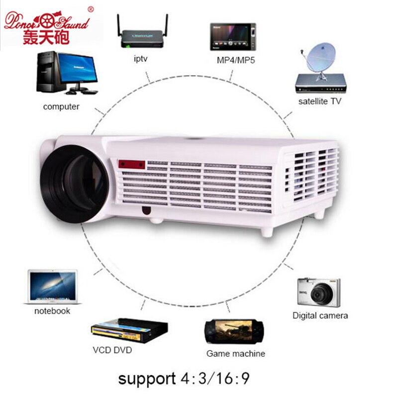 Poner Saund Led Hd Projector 5500 Lumens Beamer 1080p Lcd: Poner Saund Big Discount LED96 5500lumens Video HDMI USB