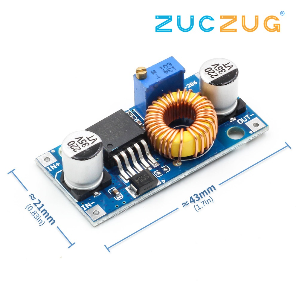 1pcs XL4005 DSN5000 Beyond LM2596 DC-DC Adjustable Step-down 5A Power Supply Module