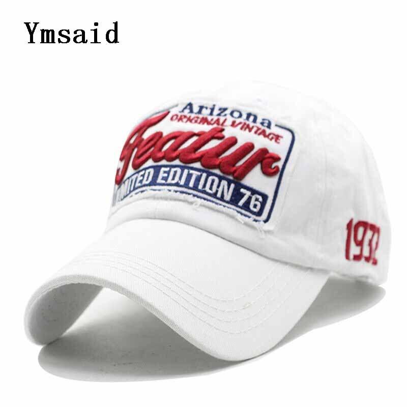 Ymsaid 2019 Brand   Baseball     Cap   Men's Feature Cotton Snapback   Caps   Featur Letters Patch Dad Hat For Men Women Bone Masculino