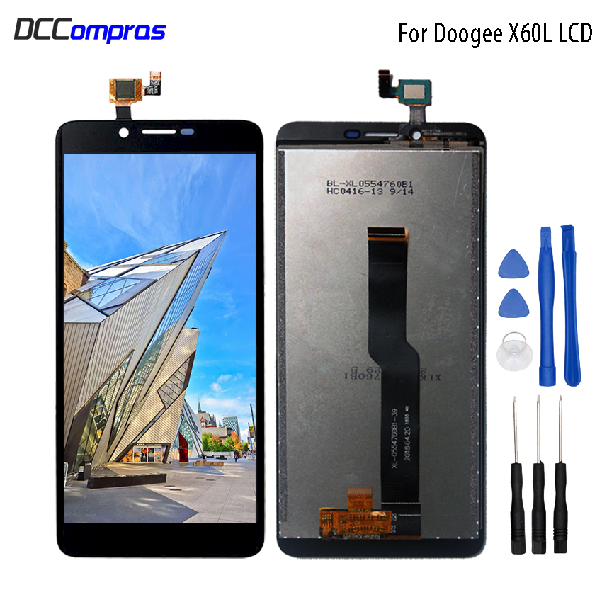 Original For Doogee X60L LCD Display Touch Screen 5.5 Inch For Doogee X60L Mobile Phone Accessory Phone Parts Free Tools