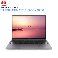 HUAWEI MateBook X Pro ноутбук 13,9 »intel Core i7-8850U 16 Гб оперативная память 512 SSD NVIDIA Geforce MX150 сенсорный экран PC