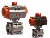 AT63 With DN32 Pneumatic Control 1 1/4 inch Stainless Steel Ball Valve