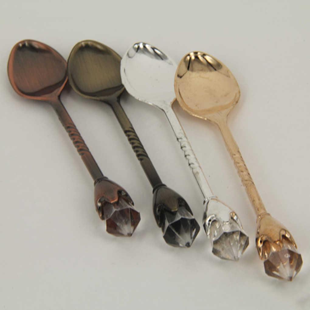 1/2/3/4 pces cristal quente lidar com chá colher de café colher de sorvete colher de sobremesa colher de concha para casa/bar