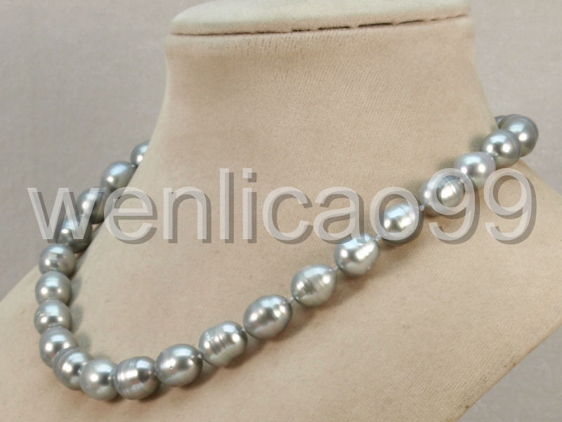 """8-9mm Natural Black /& White Akoya Cultured Pearl Fashion Jewelry Necklace 18/"""""""