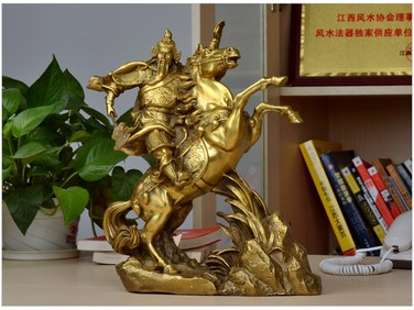 Special offer light copper Guan Gong font b knife b font lucky riding home decoration decoration