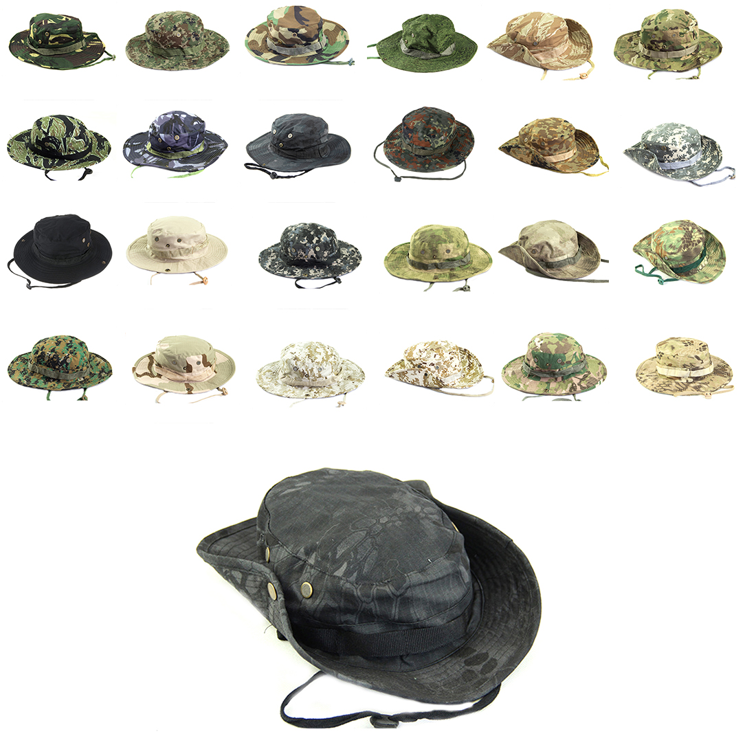 Multiple Styles Men Women Unisex Outdoor Hiking Cap Hunting Hat Military Cap Outdoor Wide Bucket Czapki