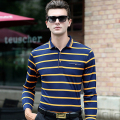 Fashion Striped Slim fit Men's Polo shirt 2016 autumn long sleeve Cotton Camisas Polo homme Casual Comfortable Soft male Tops