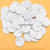 100pcs Lot RFID 125KHz 25mm T5577 Sticker Rewritable Adhesive Coin Cards Tag For Copy Round Shape