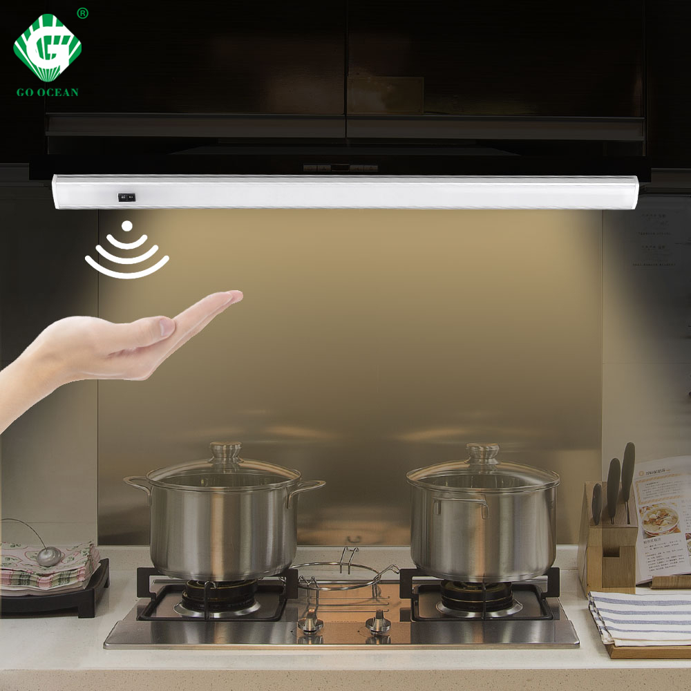 White 12V Under Cabinet Lights LED Motion Sensor Kitchen Wardrobe Night Lights Cabinet Lamp Display Case Wardrobe Cupboard Light