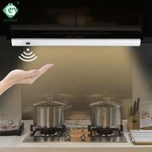 Weiß 12V Unter Schrank Lichter LED Motion Sensor Küche Kleiderschrank Nacht Lichter Schrank Lampe Vitrine Schrank Schrank Licht