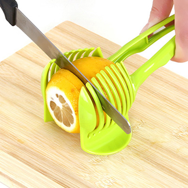 Plastic Potato Slicer Tomato Cutter Tool Shreadders Lemon Cutting Holder Cooking Tools Kitchen Accessories Fruit Vegetable Tool