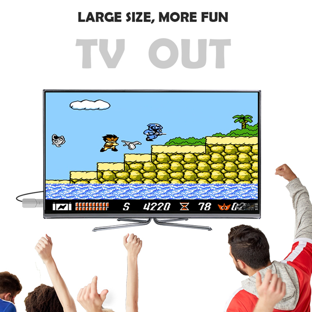 Data Frog USB Wireless Handheld TV Video Game Console Build In 600 Classic Game 8 Bit Mini Video Console Support AV/HDMI Output 2