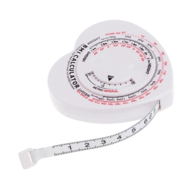 1.5メートルハートbmiボディマス指数巻尺電卓ボディ筋肉ダイエット減量ルールテープ対策ツール