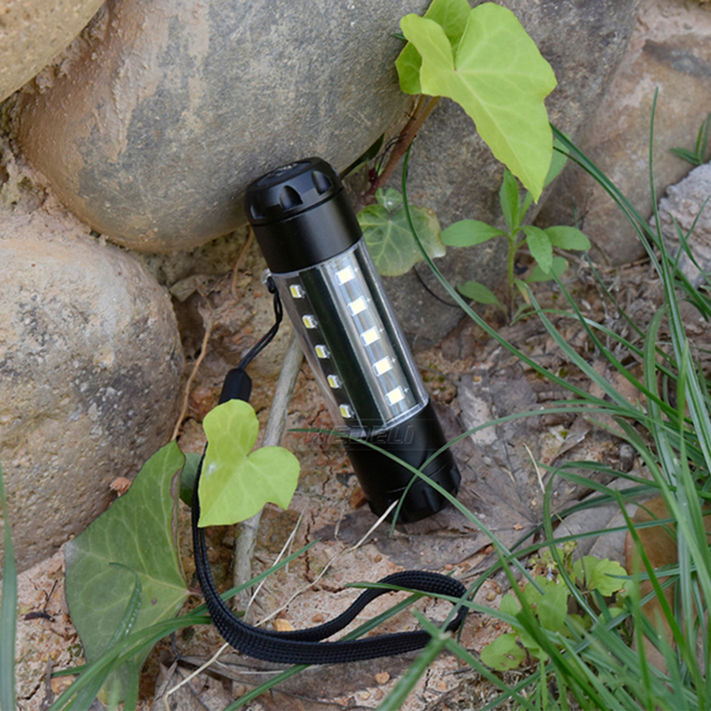 LED Flashlight CREE T6 Glare torch 360 Degree Lighting Mini New Lantern Waterproof Rechargeable 14500 Battery Camping Fishing