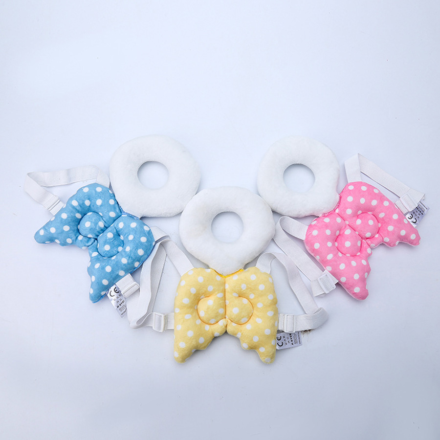 Cut Baby Head Protective Pad Children Angel Wings Head Pillow Baby Toddler Head Protecti ...