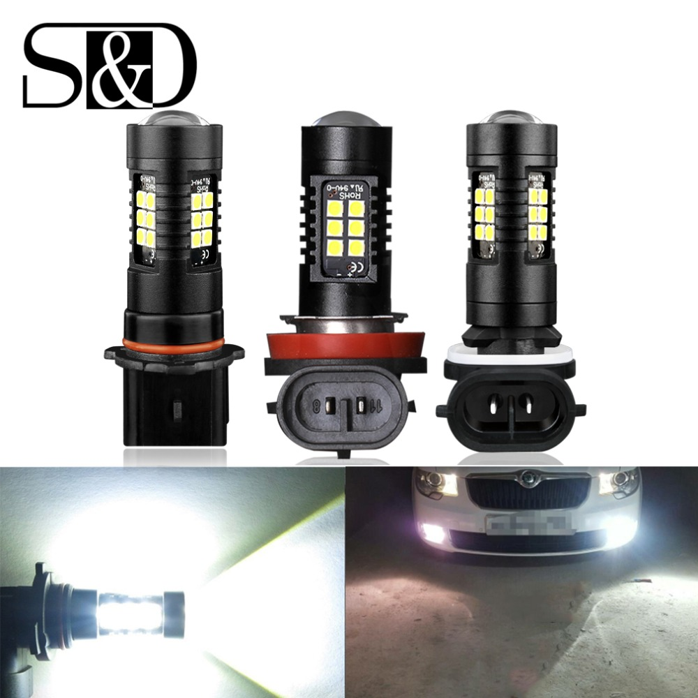 2pcs 1200Lm H11 H8 LED Car Lights Auto Bulbs H27 880 881 P13W LEDs Driving Lamp White Daytime Running Lights DRL Fog 12V - 24V цены
