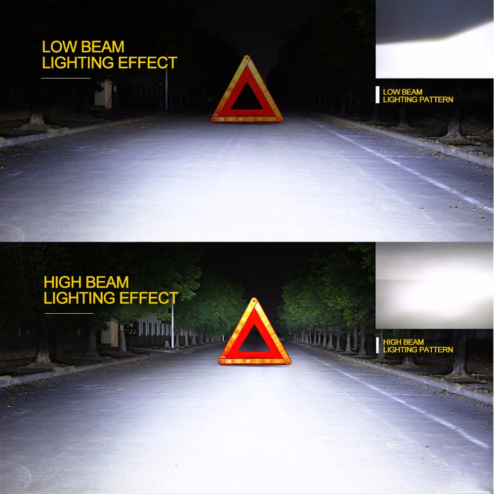 GEETANS H4 H7 H13 H11 H1 9005 9006 COB LED fənər 60W Avtomobil - Avtomobil işıqları - Fotoqrafiya 4