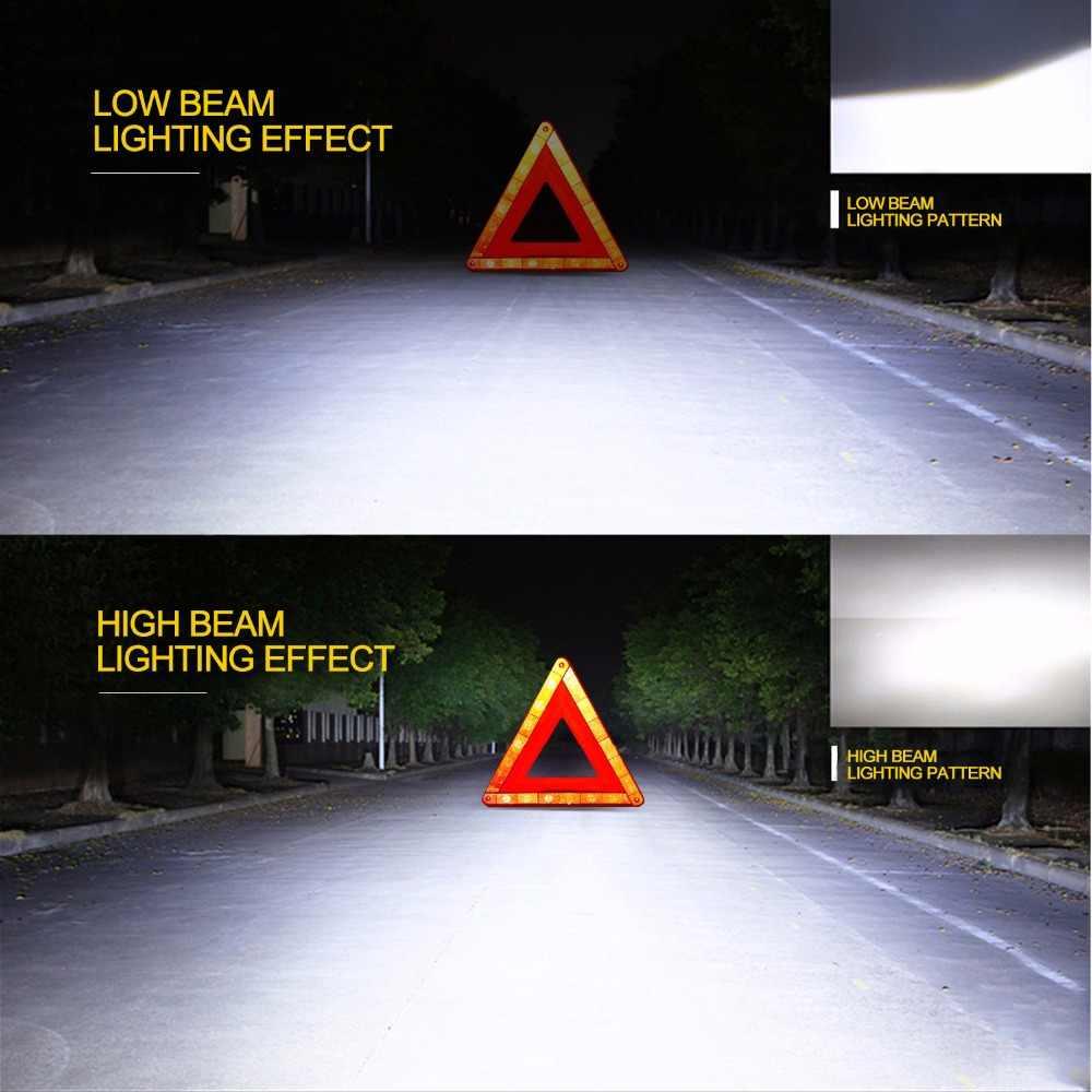 GEETANS H4 H7 H13 H11 H1 9005 9006 COB LED Headlight 60W Car LED Headlights Bulb Head Lamp 9004 Light Pure White 6000-6500K EH