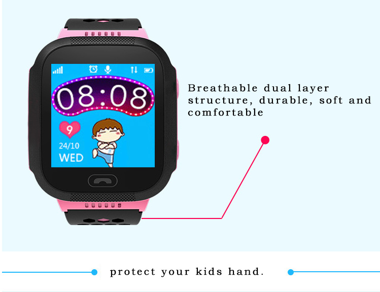 MOCRUX Q527 Smart watch Children Kid Wristwatch SOS GSM Locator Tracker Anti-Lost Safe Smartwatch Child Guard for iOS Android (17)