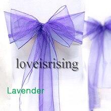 20 colors--100pcs/lot  Wedding Organza 20 x 275cm Organza Chair Cover Sashes Bow Sash Wedding Banquet Party Decoration