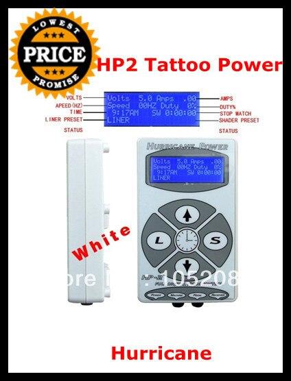 Топ белый HP2 ураган татуировка питания цифровой двойной жк-дисплей для татуировки и педаль бесплатная доставка