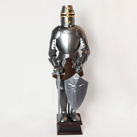 Ancient European Rome Soldiers Armor Warrior Iron Model Wine TV Cabinet Retro Decoration Crafts
