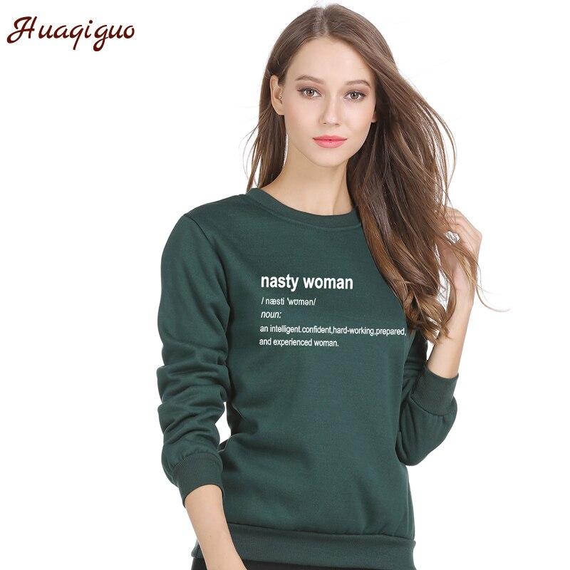 Women Hoodies Fashion Autumn Winter Nasty Woman Election Feminist Hillary Clinton Dictionary Nasty Women Vote Sweatshirt