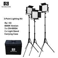 600led 5600K Portable LED Panels Studio Lighting Kit RA 95 for Photography Broadcasting and Movie