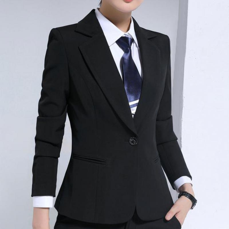 2017 New Autumn Long Women Blazers And Jackets Single Button Black Blazer Jacket Casual Sleeved Feminino Longo Jaqueta Feminina