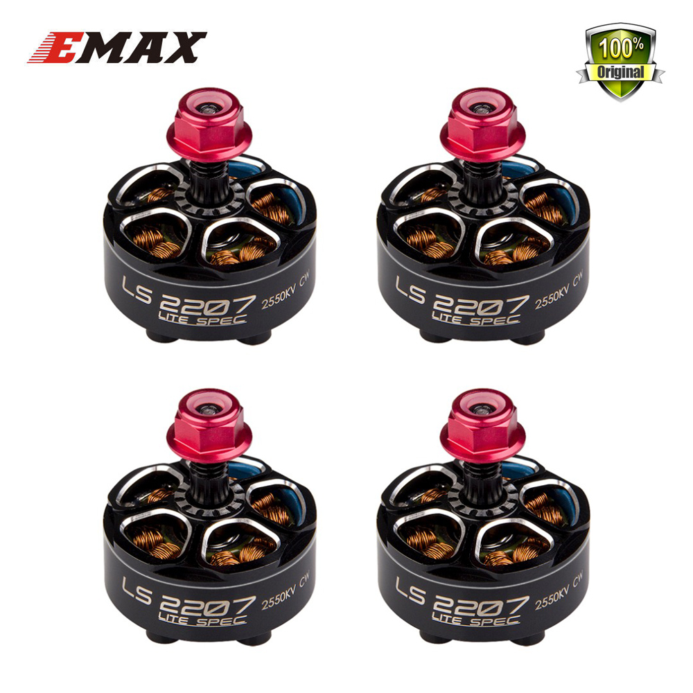 4pcs New EMAX LS2206 2300KV 2600KV 2700kv/LS2207 1900KV 2400KV 2550KV 3~5S 4~6S Motor for FPV RACER Quadcopter RC Drone drone with camera rc plane qav 250 carbon frame f3 flight controller emax rs2205 2300kv motor fiber mini quadcopter
