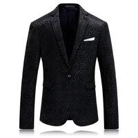 2017 New Men Blazers Floral Classic Fashion Casual Designer Brand Vintage Hip Hop Blazer Masculino VT0272