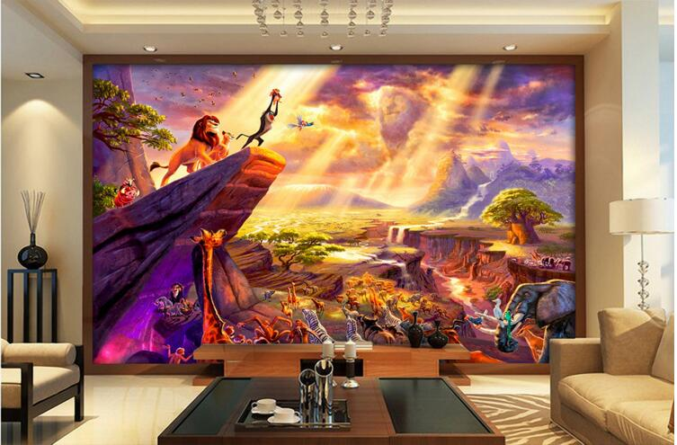 3d room wallpaper custom mural non woven Fairy tale the lion king painting  photo 3d. Popular Fairy Wallpaper Buy Cheap Fairy Wallpaper lots from China