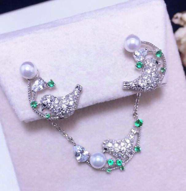 SINZRY Populaire Nouveau bijoux clair blanc AAA cubique zircone oiseau conception tour de cou collier boucle d'oreille ensemble de bijoux cadeau de noël