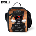 Trendy Fashion Kids Lunch Bags Thermal Cute French Bulldog Insulated Shoulder Bag Kawaii Lunchbox Children Lancheira Picnic bag