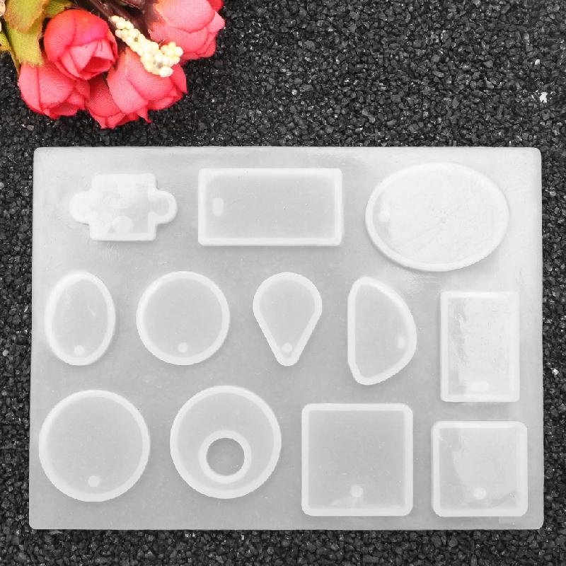 12 Design Cabochon Silicone Mold Necklace Pendant Jewelry Cake Making Tool DIY t15