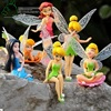 6pcs/Set DIY Miniature Flying Flower Fairy Garden Landscaping Flower Ornaments Succulent Home Decoration Cartoon Gifts