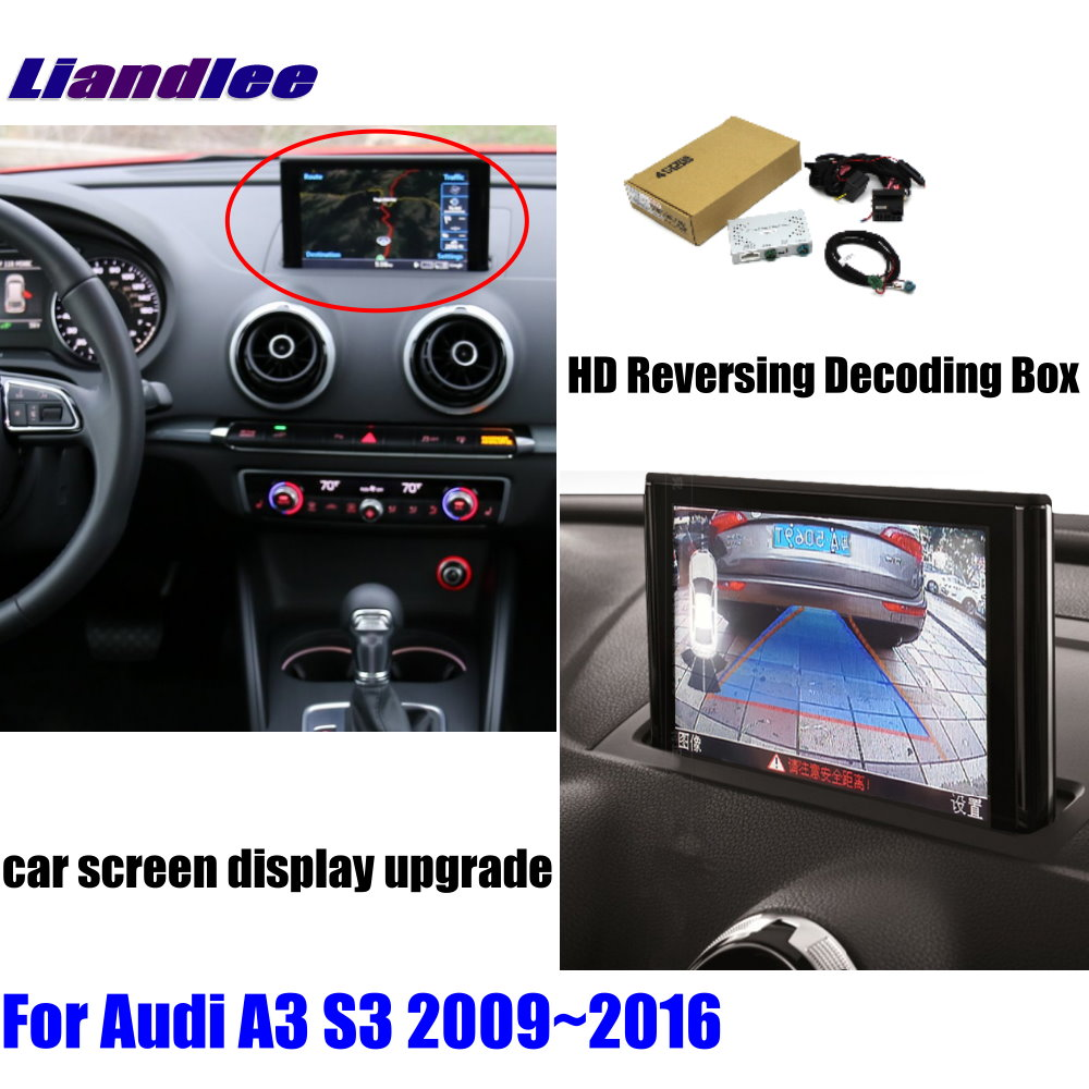 Liandlee For Audi A3 S3 2009~2016 HD Decoder Box Player Rear Reverse Parking Camera Image Car Screen Upgrade Display Update 1