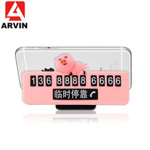 Arvin Temporary Stop Sign Car Parking Card Phone Stand Holder For iPhone XR Sansung S9 Mobile Universal Bracket Mount