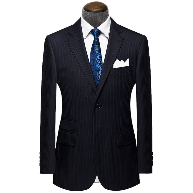 Wool Black striped Custom Made Men suit Blazers Retro gentleman style tailor made wedding suits for